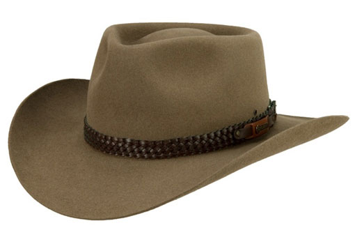 Snowy River by Akubra (made in Australia) Mid Brown with Tint of Sage  170 02d59b6e55a